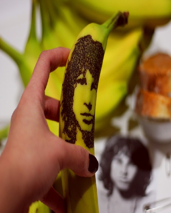 Jim Morrison-15 Amazing Banana Art You Will Ever See