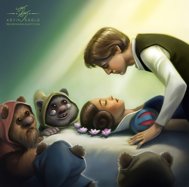 The 7 ewoks-Disney Characters In Star Wars Theme