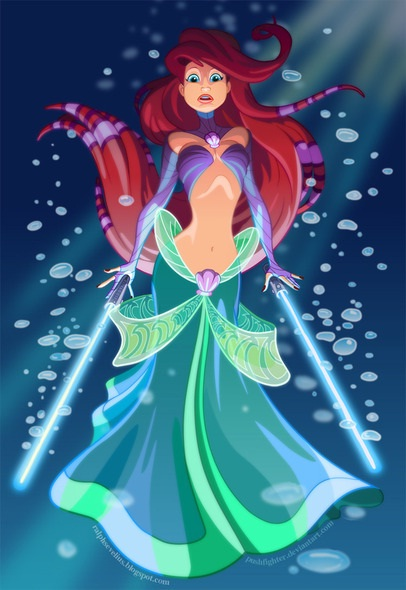 A scary mermaid-Disney Characters In Star Wars Theme