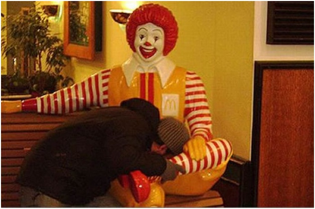 Ronald McDonald Allowed Men to Touch Him-Sad Reality Of Ronald McDonald