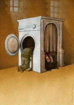 Cleansing the sins-Thought-Provoking Satirical Illustrations By Pawel Kuczynski