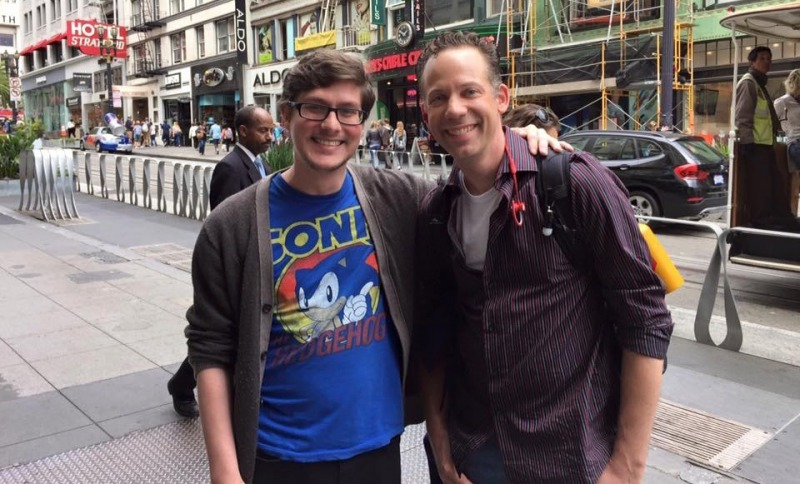 Ryan Drummond with a Sonic Fan-15 People Who Had The Perfect Shirt For The Moment