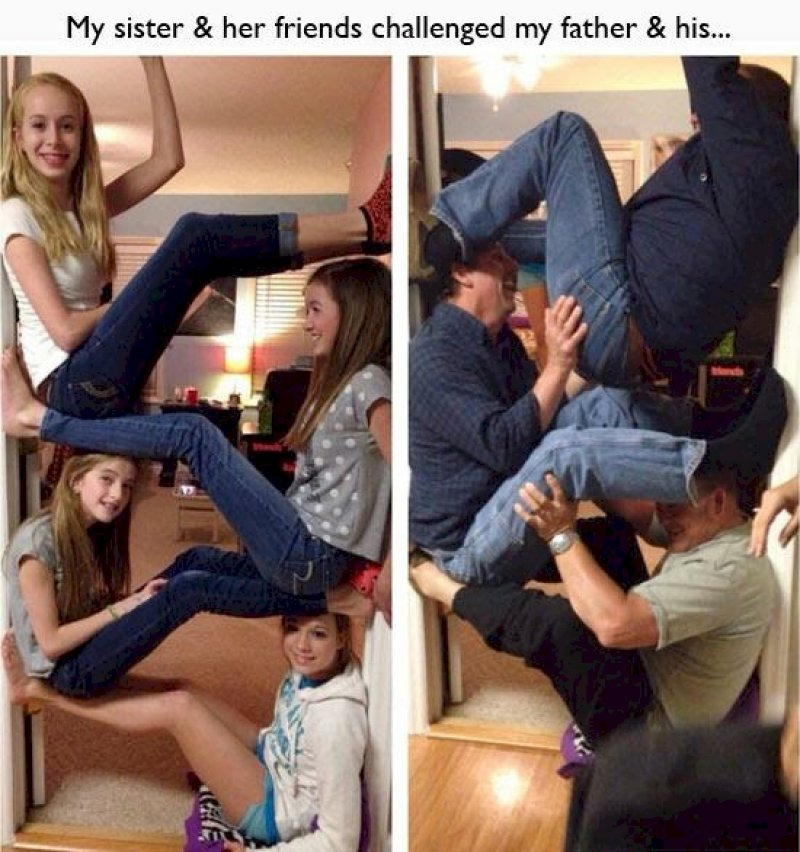 This Dad and His Friends Who are Still Young by Heart-15 Times Parents Showed Their Inner Child