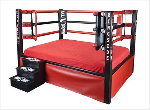 Must Have Man Cave Accessories : Boxing ring bed must have man cave accessories