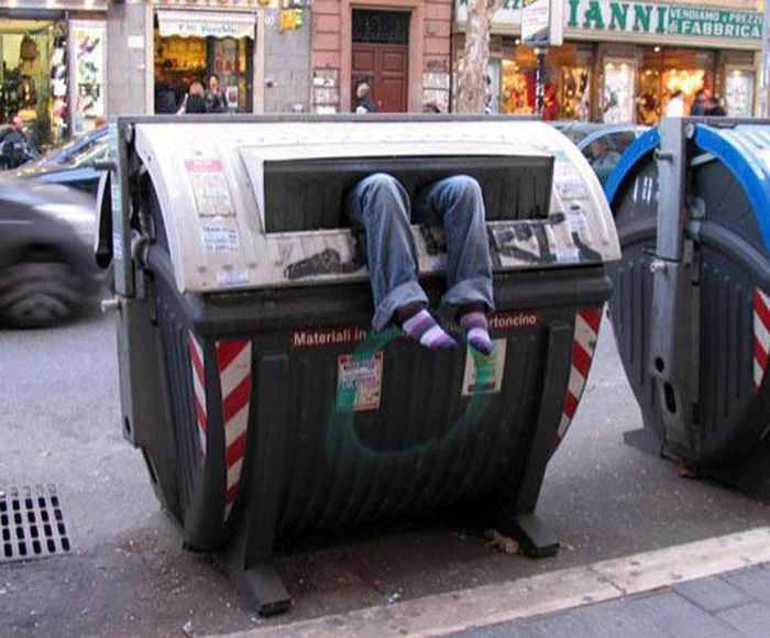 Even Worse Than Standing In The Trash-Pics Of Girls Doing Insane Things
