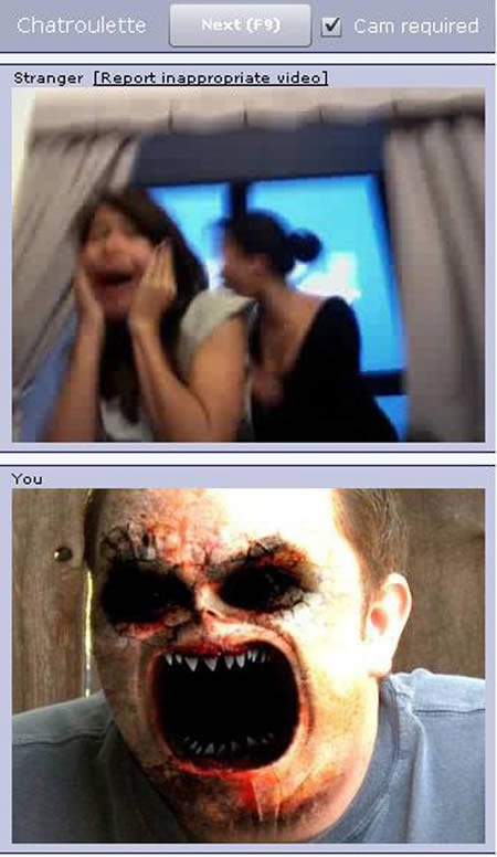 Scaring people-24 Hilarious Chatroulette Chats That Will Make You Laugh Out Loud