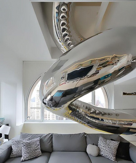 Indoor Slide-Awesome Home Interior Designs Ever