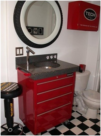 Tool Cabinet Bathroom-Must Have Man Cave Accessories