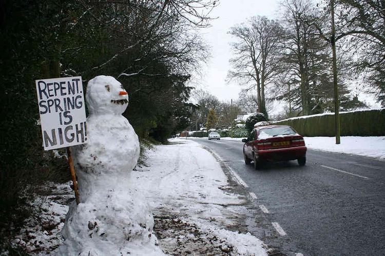 Religious snowman-Craziest Snowmen Ever