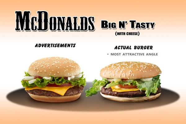 Nice burger?-Hilarious Examples Of False Advertising