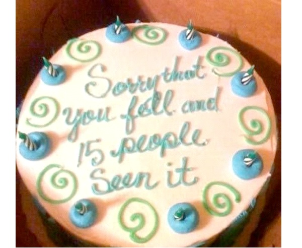 Falling-12 Hilarious Cake Texts That Will Make You Laugh For Sure
