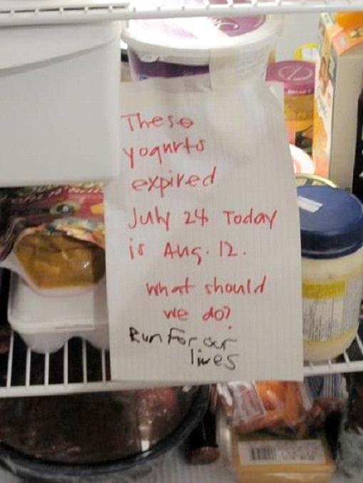 Expired Yogurt-12 Smart And Witty Replies To Written Notes