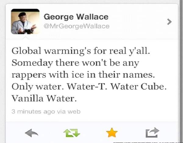 George Wallace-Funny Celeb Tweets