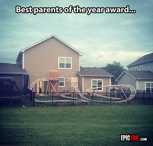 Beat that for a slide-Epic Parenting Wins