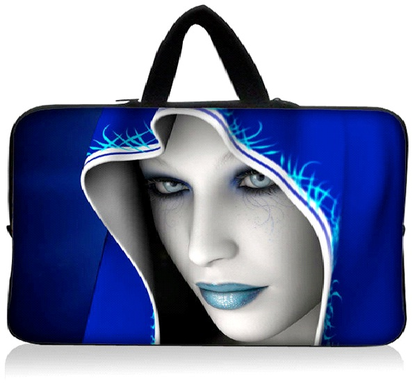 Cool Blue Witch-Coolest Laptop Sleeves And Bags