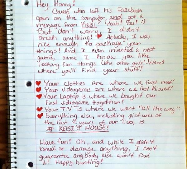 Scavenger Hunt-Worst Break Up Letters