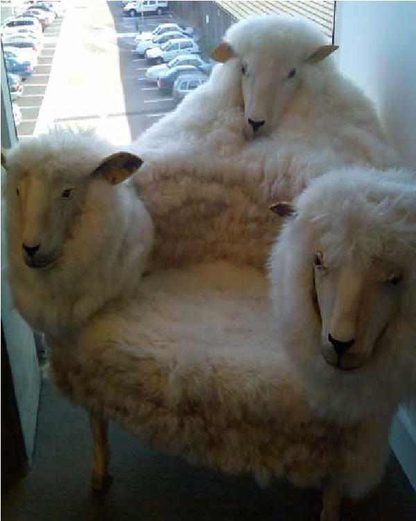 Sheep chair-Weird Bedroom Furniture