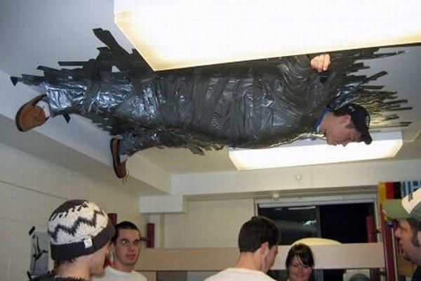 Ceiling tape-Best Pranks Ever