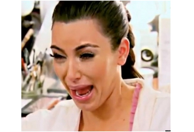 Kim Kardashian Crying-Ugly Celeb Cry Faces