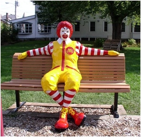 Ronald McDonald Lounging-Sad Reality Of Ronald McDonald