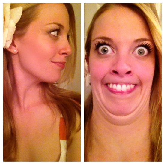 Big eyes-12 Photos That Show Pretty Girls Making Ugly Faces