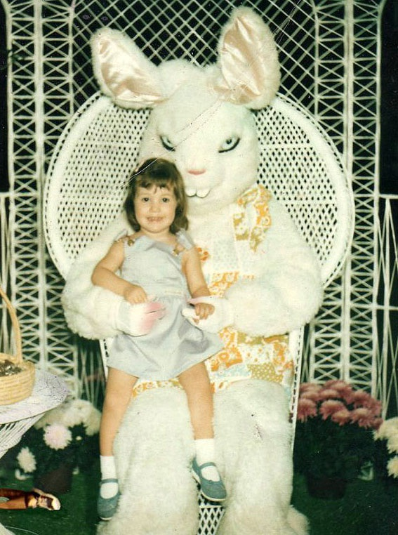 Will it eat her?-Not So Cute Easter Bunnies