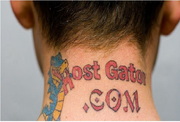 Hostgator-Disgusting Advertisement Tattoos