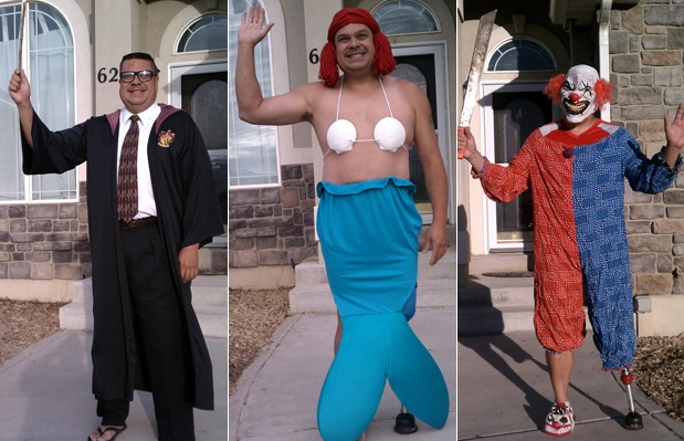 A multitude of costumes-Embarrassing Dad Pictures