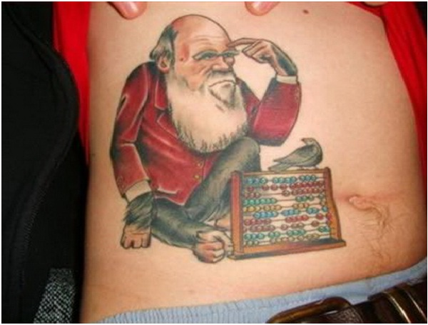 Monkey Santa Tattoo-Craziest Christmas Tattoos