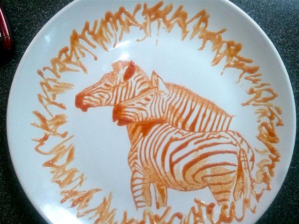 Zebras-Amazing Ketchup Art