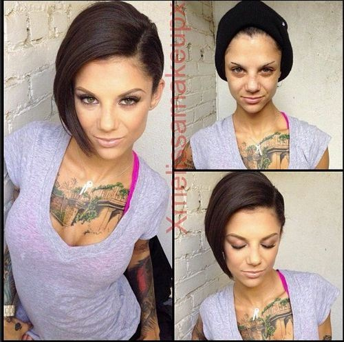 Bonnie Rotten-Pornstars With And Without Make Up