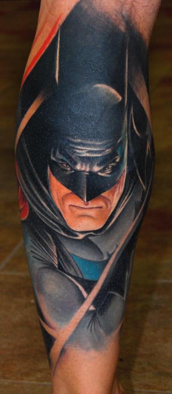 Lifelike-Batman 3D Tattoos
