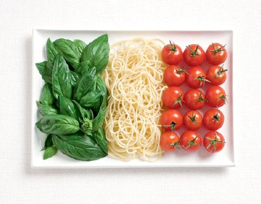 Italy-Most Creative Flags Made Out Of Food