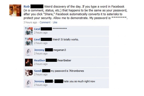 Password prank-Best Facebook Pranks