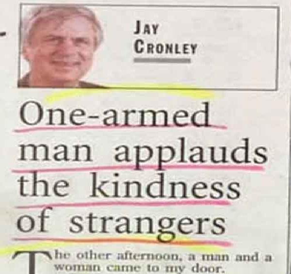 One arm?-12 Funniest Newspaper Headlines Ever Written