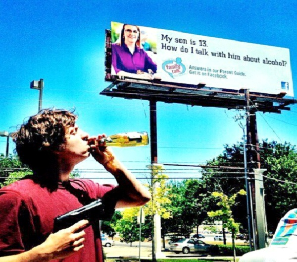 "Preaching Mom/Drunk Teen-Pictures That Will Make You Say ""Oh The Irony"""