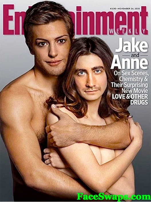 Anne Hathaway And Jake Gyllenhaal-Face Swapping Done Right