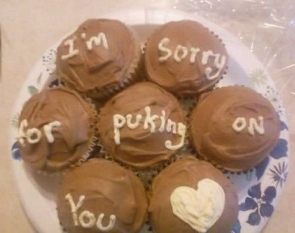 With cakes?-Worst Apologies Ever