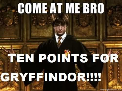 A challenge-'10 Points For Gryffindor' Memes