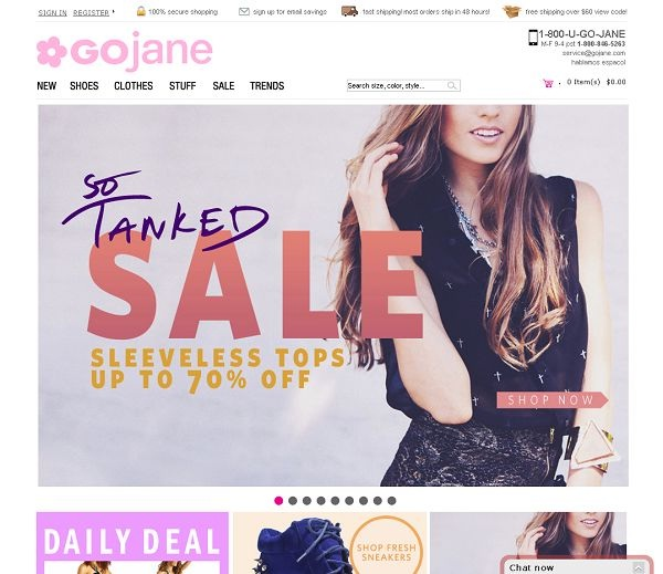 GoJane.com-Cheap Clothing Websites For Women