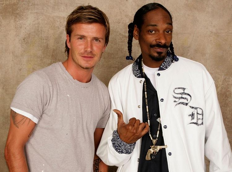 David Beckham & Snoop Dogg-Unlikely Celebrity Friends