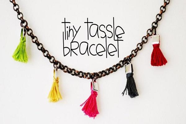 Tassle bracelet-DIY Jewelry Ideas