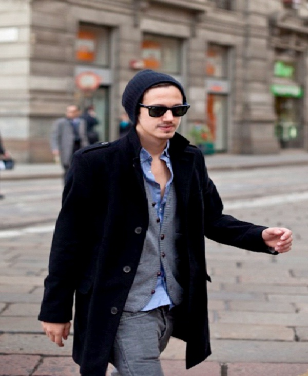 Beanie Hat, Dark Glasses and Car-Best Hipster Style Men