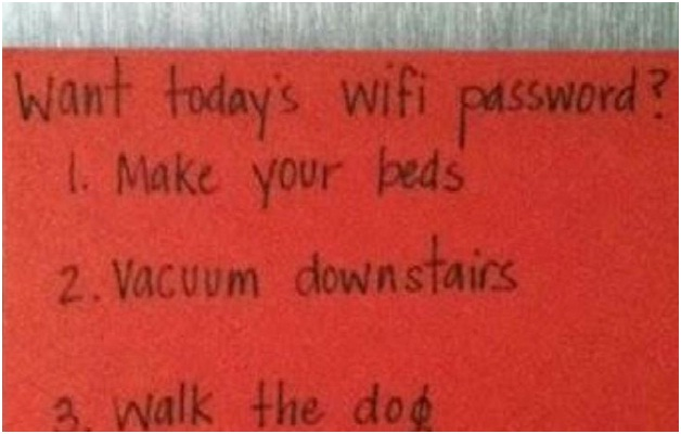 Wi-Fi for Chores-Absolutely Hilarious Parental Notes