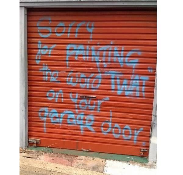 Garage door-Hilarious Public Apologies