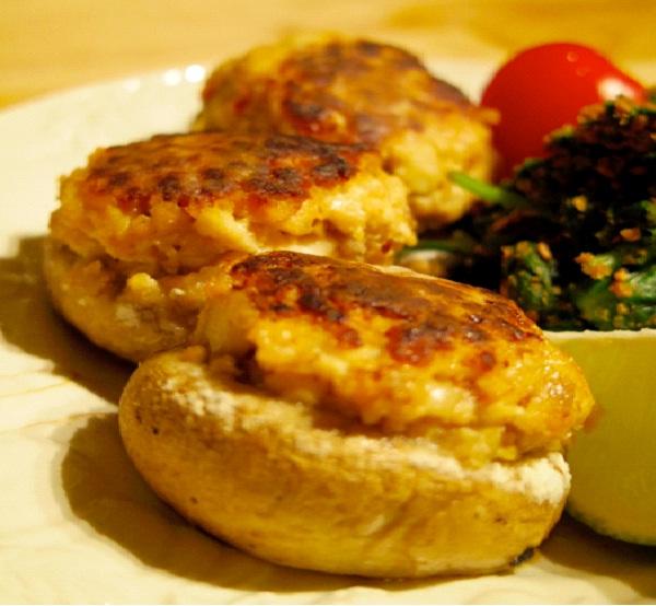 Stuffed mushrooms with tofu and herbs best vegetarian for Vegetarian christmas stuffing