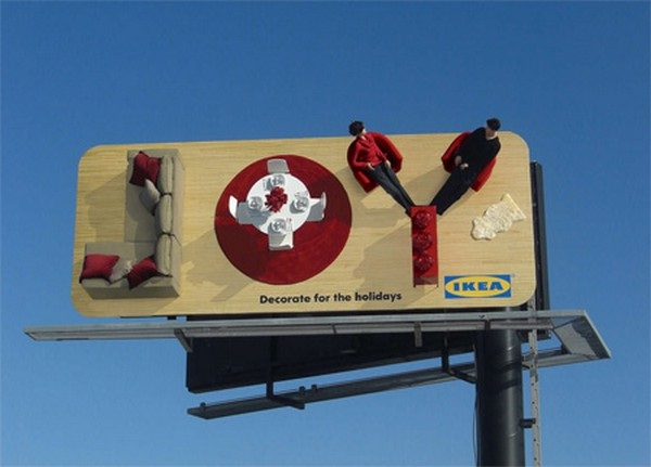 Ikea-Brilliantly Clever Billboard Ads