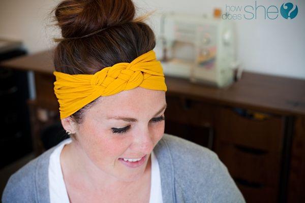 Nylons-Amazing Headbands You Can Make Yourself