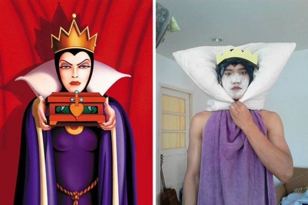 Spot the difference-12 Cheap Yet Funny Cosplays Ever
