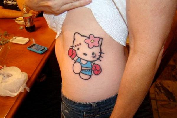 Kitty The Boxer-Craziest Hello Kitty Tattoos